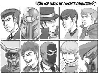My Favorite Characters -male- by Armadria