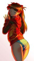 Asuka-on-the-sunset by chacrawarrior