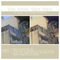 Free action: Warm Sepia by LalaM