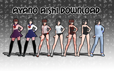 YanSim x MMD Ayano Aishi Pack V2 DOWNLOAD by nena-linda-pink