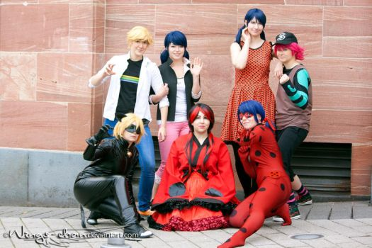 Miraculous Ladybug   Group   V by Wings-chan