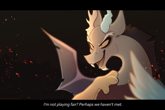 . you're not playing fair . by fauxll