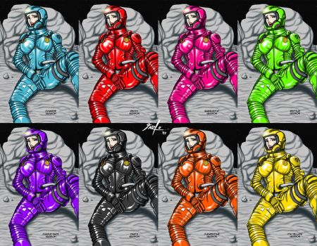 Commish - Janet suit rip colour tests 2 by jarloworks