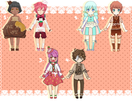 [OPEN] Sweets and Fruits adopts [Points] by Jeera97