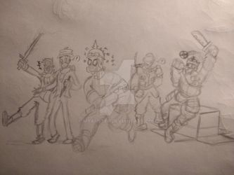 TF2 Loadout Gang - Rough Sketch by d3skinner