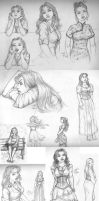 Thanksgiving Sketchdump 2010 by CloudlinerCorona