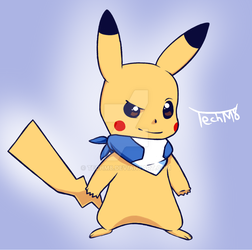 Mystery Dungeon  Pikachu by TechM8