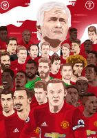 Manchester United Illustration by dicky10official