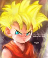 Pan super saiyan by Mark-Clark-II