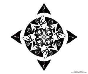 Compass of Disclosure - Tribal Tattoo by Xhenya