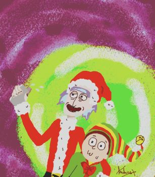 Rick and Morty ~ Christmas by andersss