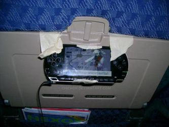 Easy PSP Watching on a Plane by Chichok