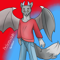 Werewolf-dragon(request] by thetwinsisters