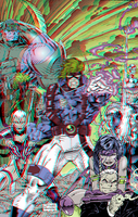 WildC.A.T.S in 3D Anaglyph by xmancyclops