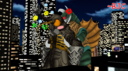 [MMD] - Kaiju New Years Eve 2018 by BigJohnnyCool