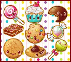 Sweety Yum Yum Set by marywinkler