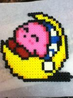 -Perler- Sleeping Kirby by OtakuLuka