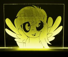 Another Derpy Hooves Acrylic LED Picture by steeph-k
