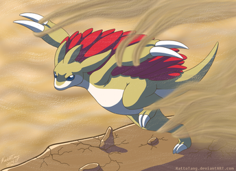 028 Sandslash by KattoTang
