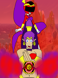 Its Morphin Time -Shantae- by RedPegasus237