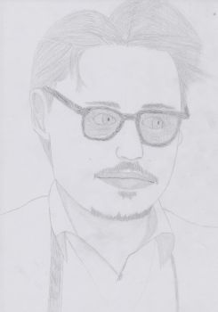 Johnny Depp by portraitpencil