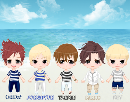 SHINee - Boys Meet U - chibi by Rytsuko