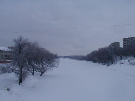 Gauja in Winter 2 by sadrainy