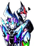 Art trade: Moonshine and Starscream by Micelux