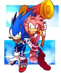 Sonic boom : Sonic  and Amy by Omiza-Zu