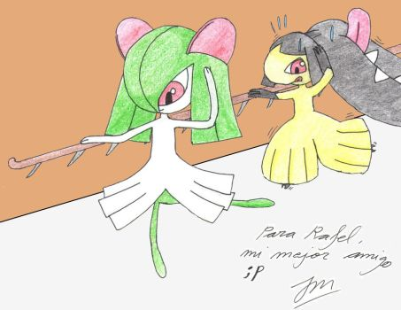 Ballet classes with Kirlia by burikillo