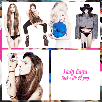 Lady Gaga Pack PNG #1 by maarcopngs