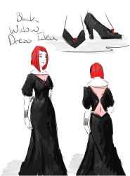 Black Widow Dress Idea by tamara-robitille