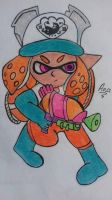 Inkling Salmon Run - Splatoon 2 by AnaRodriguez114