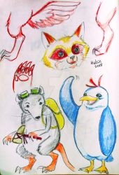 Animals sketch by Helsic