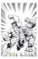 HULK vs THING Pin-Up - Steve Scott/Hazlewood by DRHazlewood