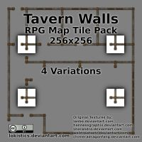 Tavern Walls  - Free RPG Map Tile Pack by Lokistics