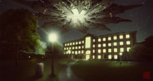 Campus Night Scene by Julian-Faylona