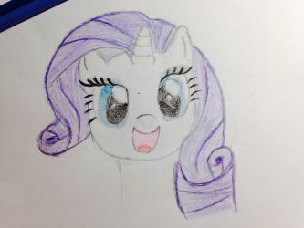 Rarity drawing by florecentflower
