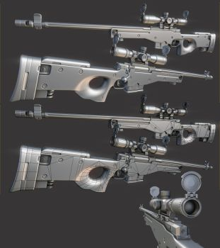 L96 Model - Ready for texturing by ImBrokeRU