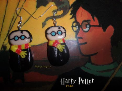 Boucles d'oreilles Harry Potter ( Fimo Earrings ) by AkilajoGraphic