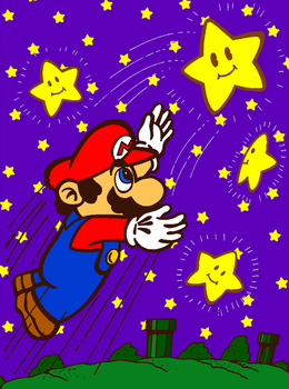Mario Catches a Stars (Coloring Book) by cuddlesnam