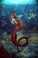Mermaid in the deep by jiajenn