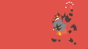 Incineroar Minimalistic Wallpaper by Morshute