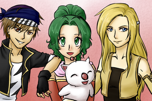 FF6 Friends by cocosnowlo