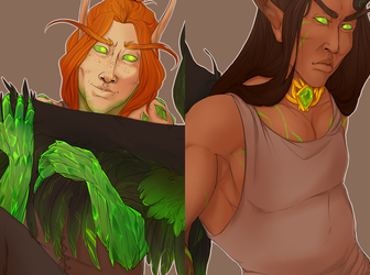 Commission - Thantal and Vathiel (detail) by bylacey