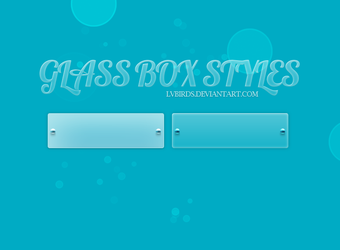 Glass Photoshop Styles by lvbirds