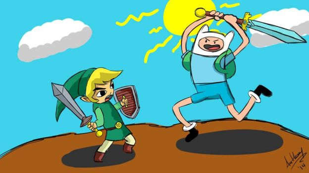 Link vs Finn by Marty--McFly