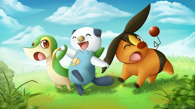 Unova Starters by Masae
