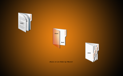 Ubuntu10 Live Folders by PianoArt