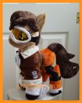 mlp plushie Commission Tracer from Overwatch by CINNAMON-STITCH